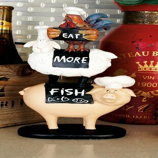 Polystone Farm Animal Stack Figurine & Farm Animal Plates | Wayfair