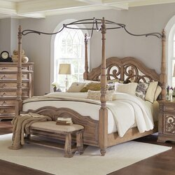 Canopybed one allium way george canopy customizable bedroom set & reviews