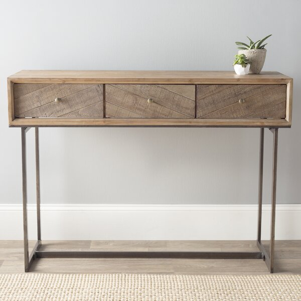 Wood And Metal Console Part - 47: Cole U0026 Grey Wood And Metal Console Table U0026 Reviews | Wayfair