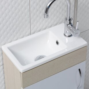 Mini Ceramic Rectangular Drop In Bathroom Sink With Overflow