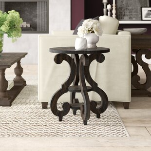 Black Round End & Side Tables You'll Love | Wayfair