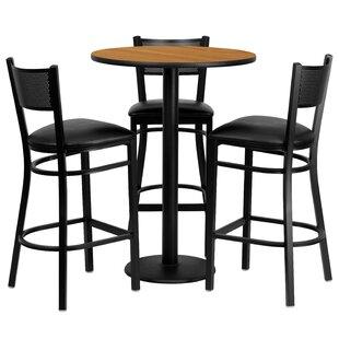 Dipesh 4 Piece Pub Table Set