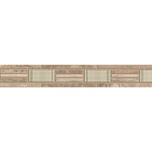Listello border accent tiles youll love wayfair accent statements 2 x 12 travertine decorative border tile in brown ppazfo