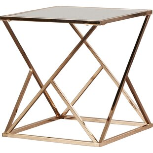 Modern Contemporary Rose Gold End Table