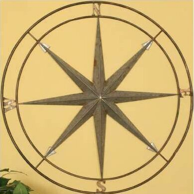 Iron Compass Wall Decor | Wayfair