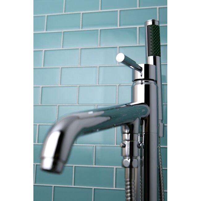 Kingston Brass Concord Single Handle Pillar Roman Tub Faucet with ...