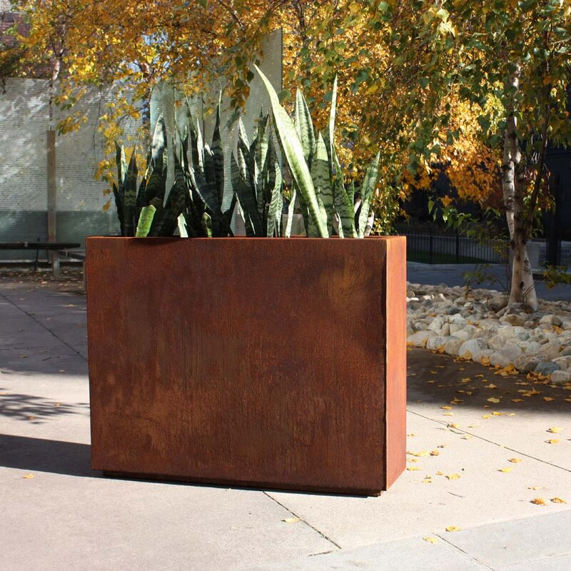 Veradek Metallic Series Corten Steel Planter Box Amp Reviews