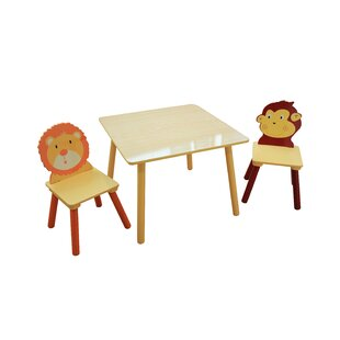 Jungle Children's 3 Piece Square Table and Chair Set by Liberty House Toys