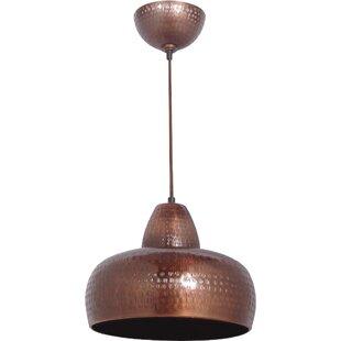 Hammered copper pendant light wayfair farragut mini pendant aloadofball Images