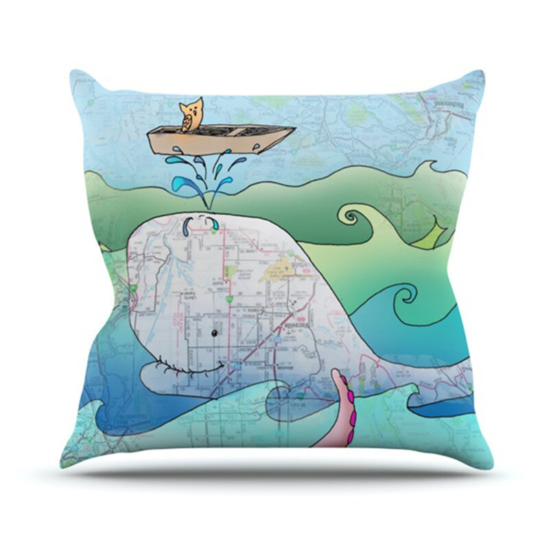Decorative Pillows For Yachts : KESS InHouse I m on a Boat Throw Pillow & Reviews Wayfair