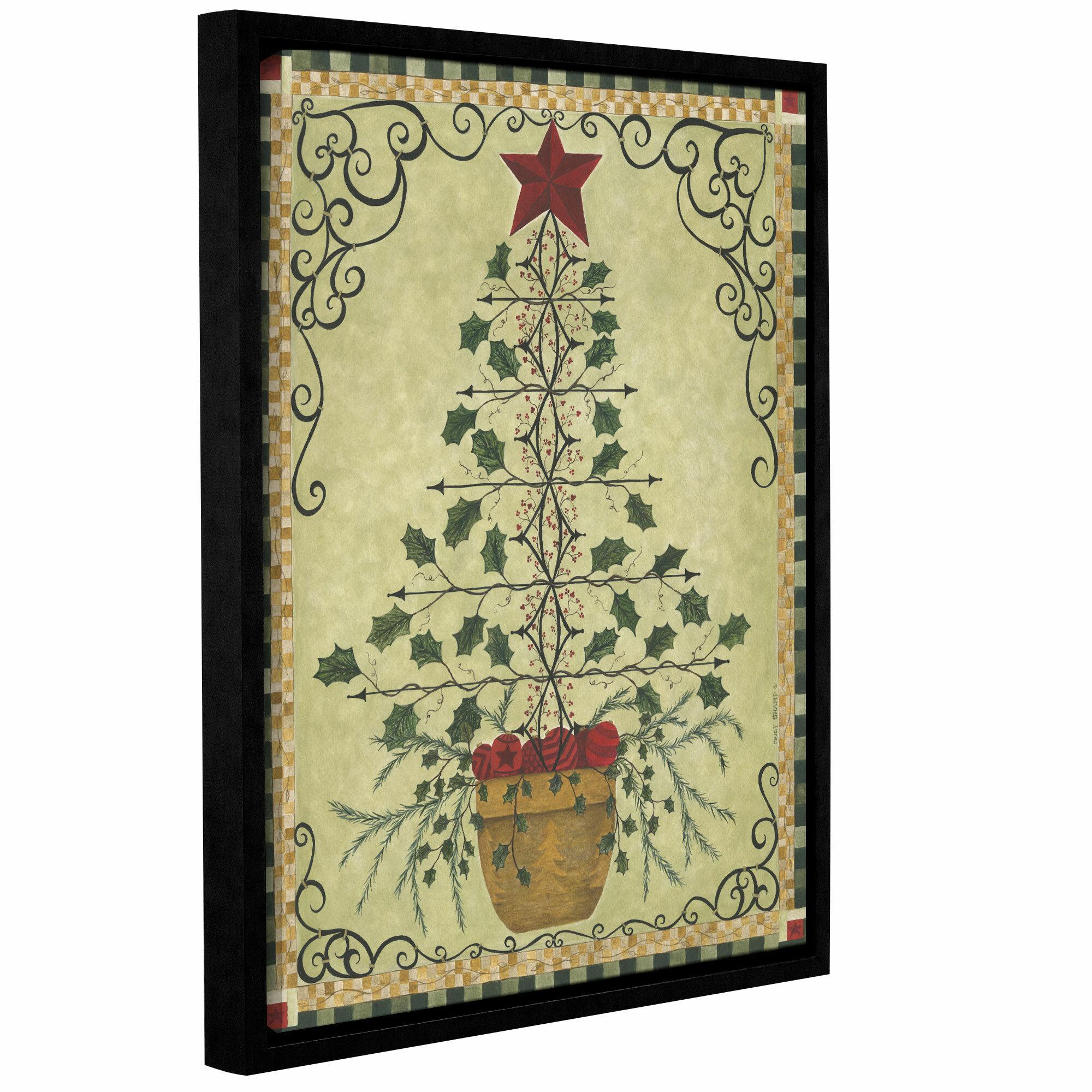 The Holiday Aisle \'Topiary Tree\' Graphic Art Print & Reviews | Wayfair