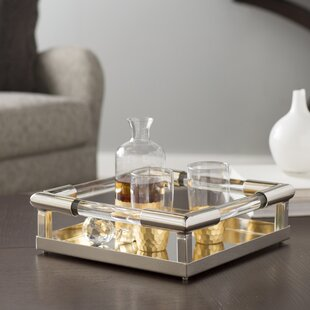 Superior Polished Nickel Glass Tray