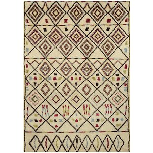 Gretta Hand Knotted Wool Cream/Brown Rug by Latitude Vive