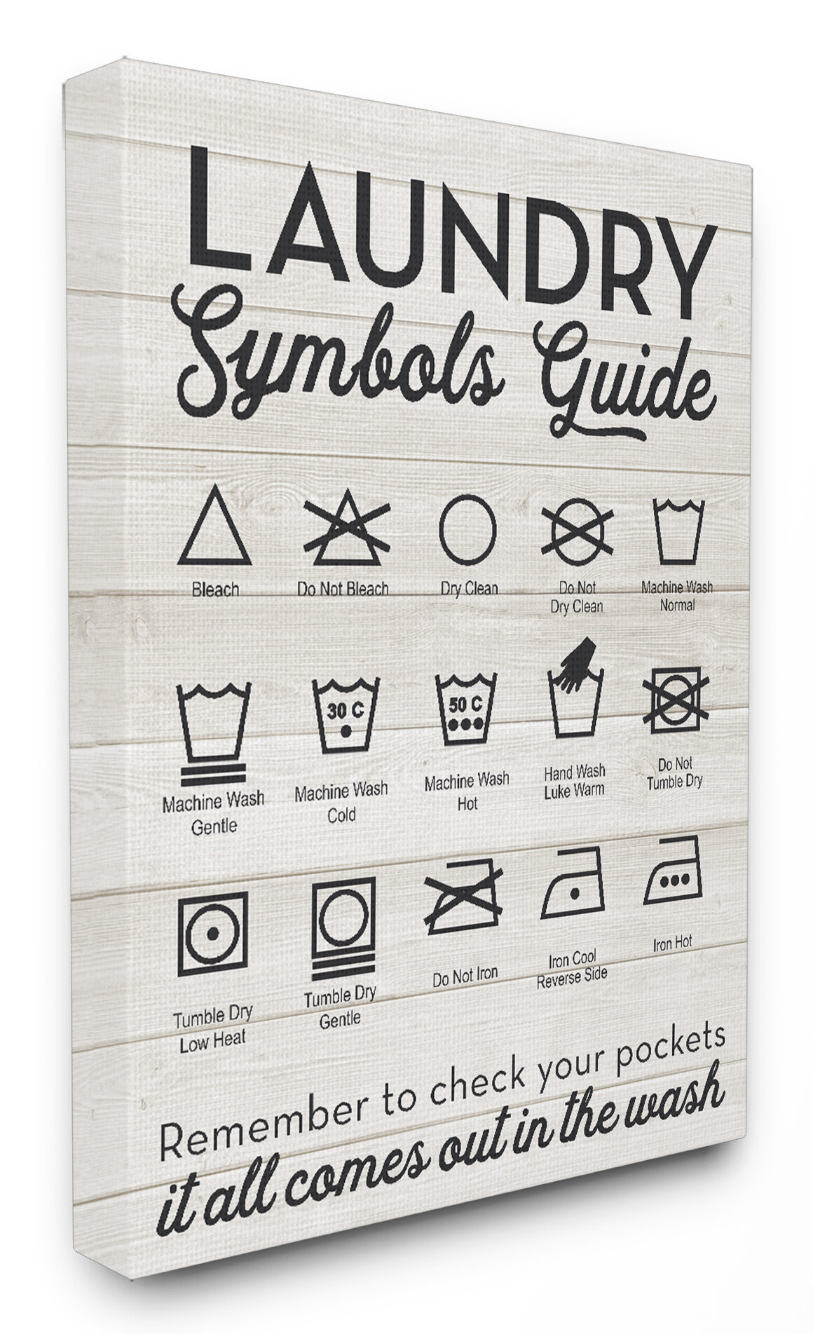 Stupell industries laundry symbols guide typography framed stupell industries laundry symbols guide typography framed textural art on wood wayfair buycottarizona Gallery