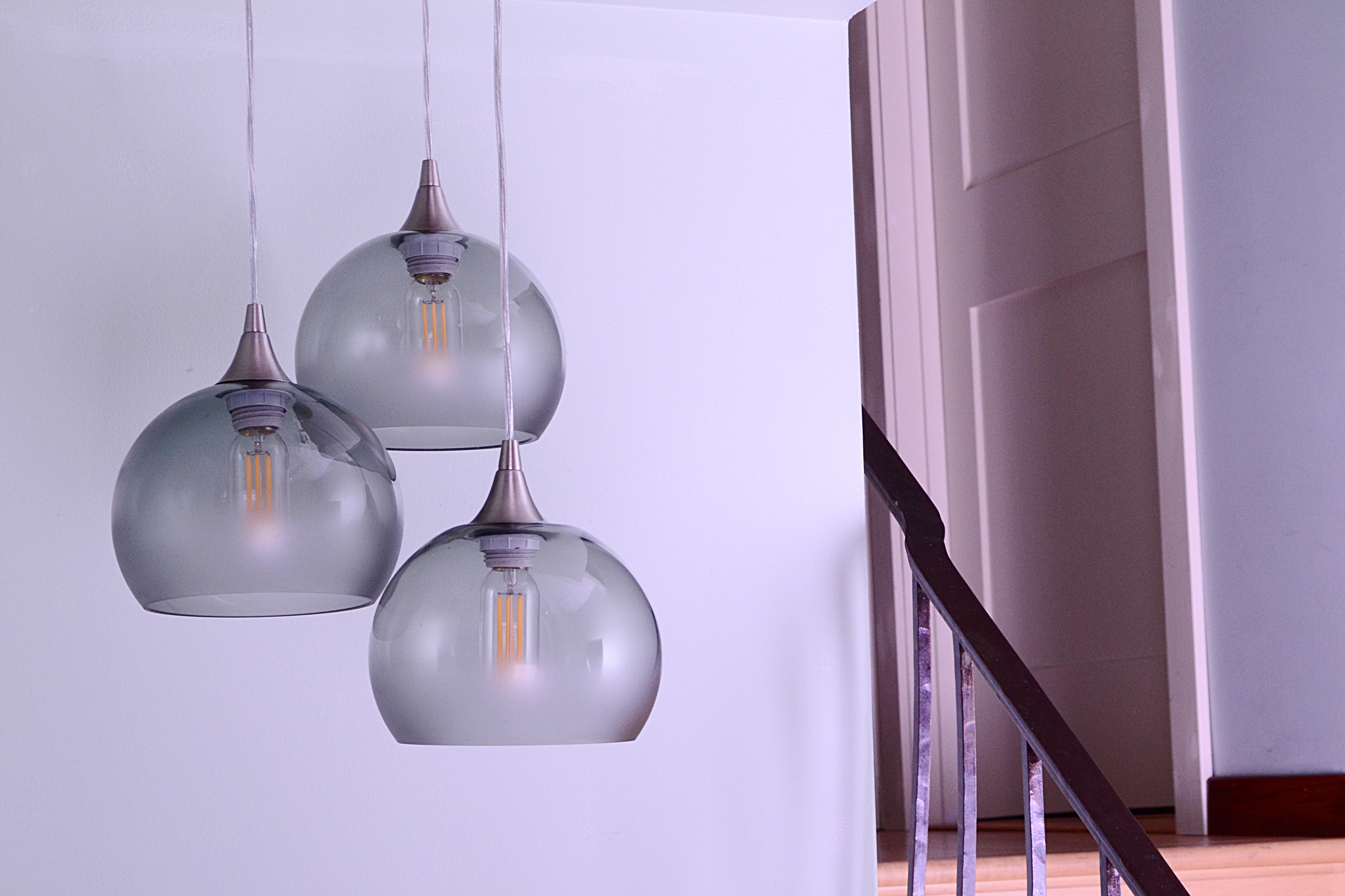 Bicycleglassco 3 light pendant wayfair