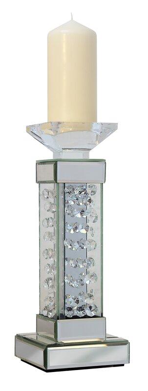 wildon home kerzenleuchter rhombus glass aus glas und metall bewertungen. Black Bedroom Furniture Sets. Home Design Ideas