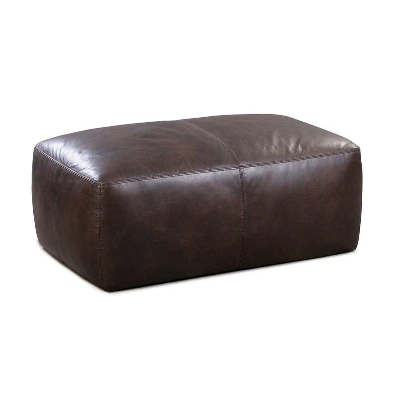 Ashley Leather Pouf Allmodern