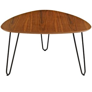 Bisson Hairpin Leg Wood Coffee Table by Varick Gallery