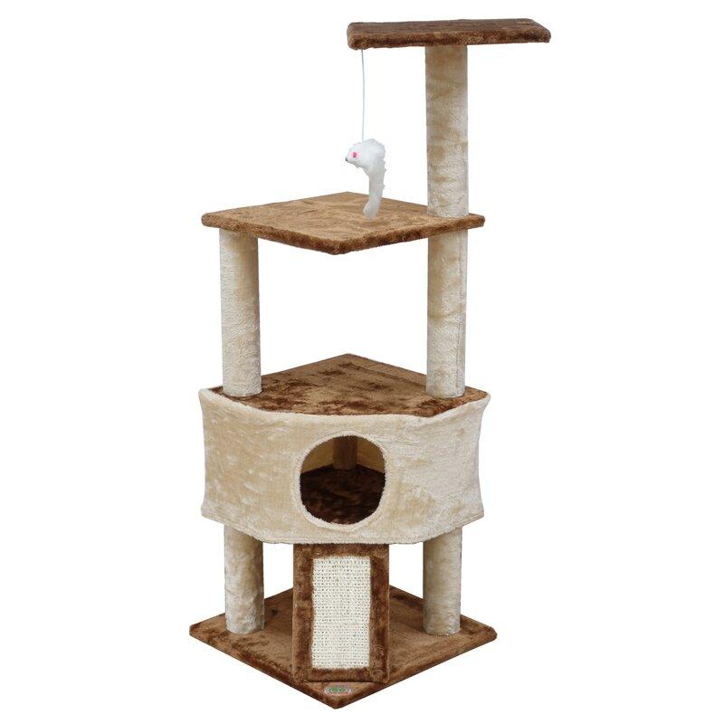 Sisal & Fur Cat Post Scratcher With The Best Service Cat Supplies Pet Supplies