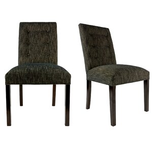 Kacey Straight Back Upholstered Parsons Chair (Set of 2) by Sole Designs
