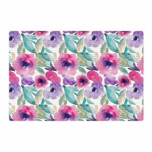 Li Zamperini Floralia Watercolor Floral Pink Area Rug