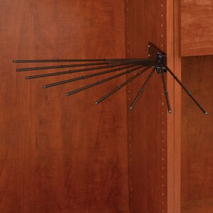 Static Wire Fan Pants Rack by Rev-A-Shelf