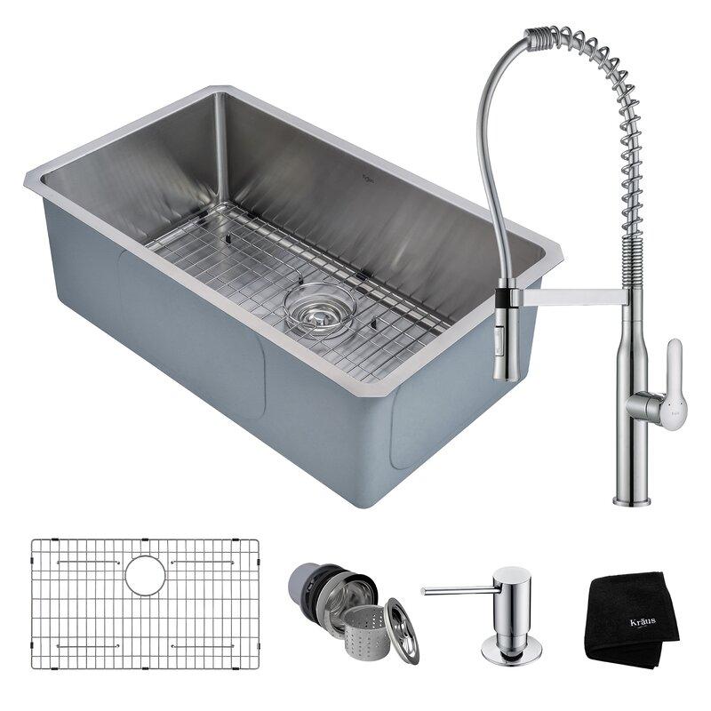 16 Gauge Undermount Kitchen Sink Handmade stainless steel 16 gauge 30 x 18 undermount kitchen sink handmade stainless steel 16 gauge 30 x 18 undermount kitchen sink with faucet workwithnaturefo