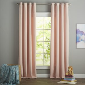 Panel Pair Curtains Drapes Youll Love Wayfair - Curtains for 3 windows in a row
