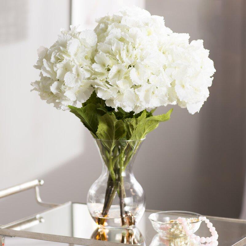 Willa Arlo Interiors Large Silk Hydrangeas In Vase Reviews Wayfair
