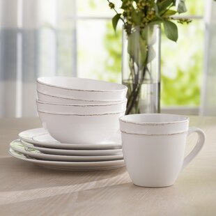 Save & White Beaded Dinnerware Set | Wayfair