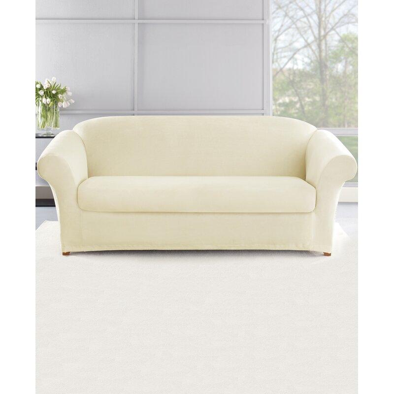 Stretch Plush 2 Piece Sofa Slipcover Set