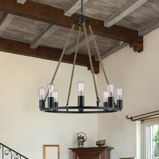 Myrcella 8 Light Wagon Wheel Chandelier