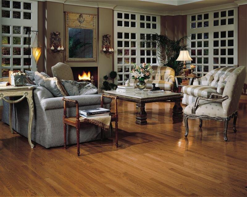 2 14 Solid Oak Hardwood Flooring In Low Glossy Gunstock