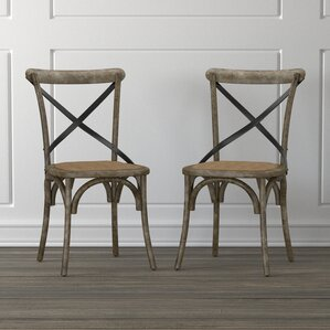 canfield solid wood dining chair set of 2