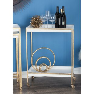 Lutton Metal/Wood Tea Bar Cart
