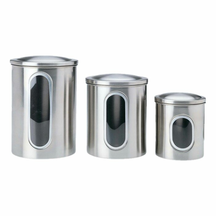 Awe Inspiring Window 3 Piece Kitchen Canister Set Best Image Libraries Thycampuscom