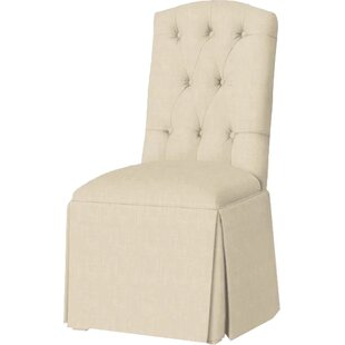 Pearce Diamond Tufted Skirted Side Chair