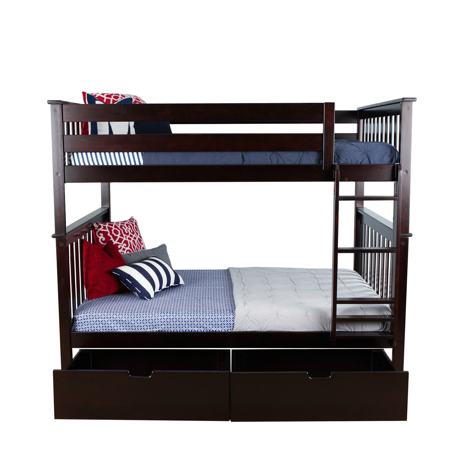Max Lily Solid Wood Bunk Bed With Under Bed Storage Drawer Wayfair