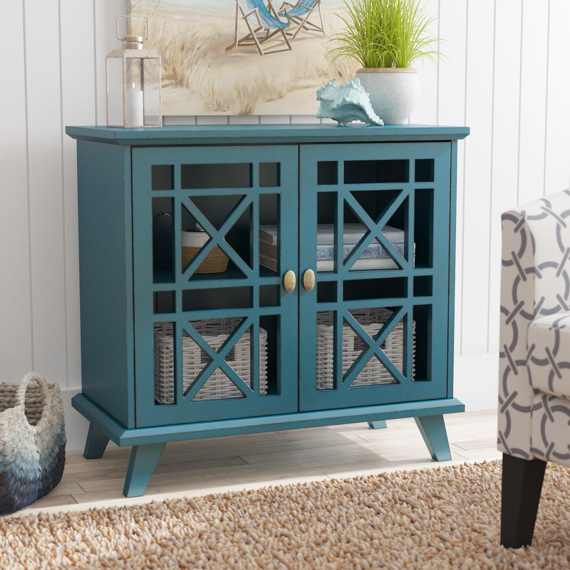 Beachcrest Home Matheus Fretwork 2 Door Accent Cabinet & Reviews ...