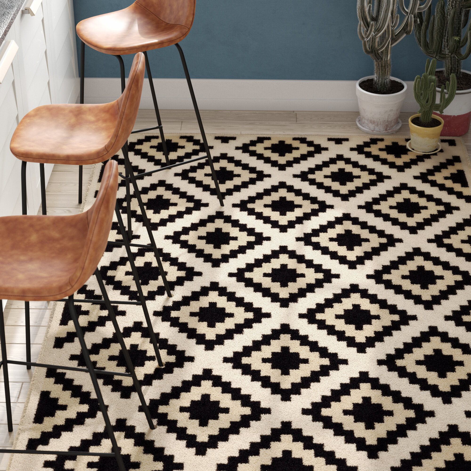 Trent Austin Design Amoll Ivory Black Area Rug Reviews Wayfair