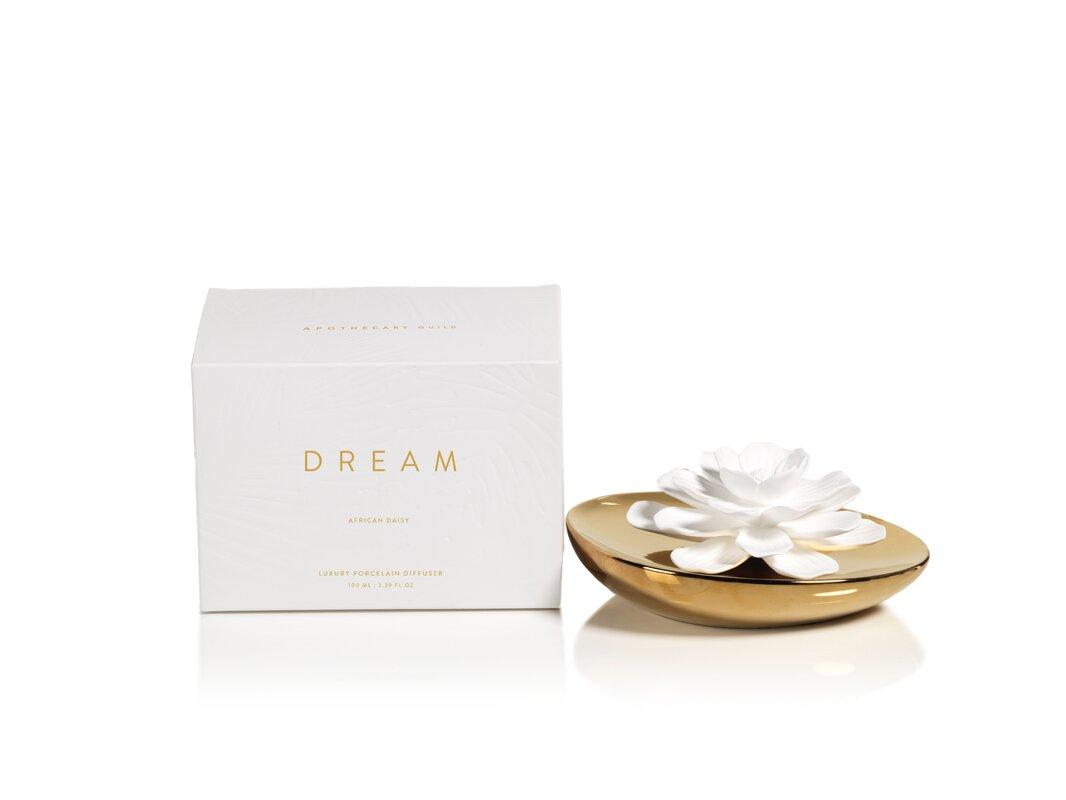 Zodax dream porcelain african daisy fragrance flower diffuser dream porcelain african daisy fragrance flower diffuser izmirmasajfo Image collections
