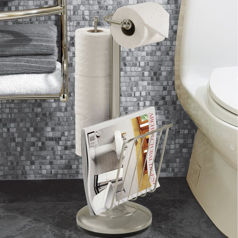 Bathroom Fixtures Toilet Paper Holder better living products free standing toilet paper holder & reviews