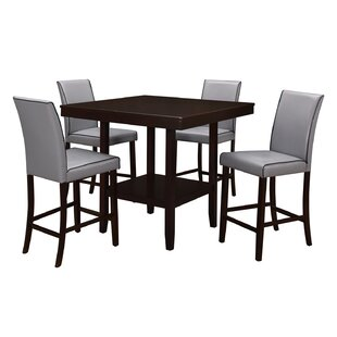 Mckee 5 Piece Counter Height Dining Set