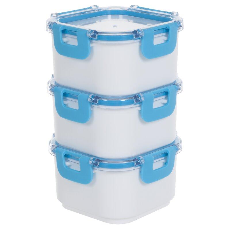 Classic Cuisine Portable 4 Container Food Storage Set