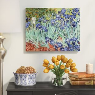 U0027Irisesu0027 By Vincent Van Gogh Oil Painting Print On Wrapped Canvas