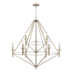 Clontz 9-Light Candle-Style Chandelier