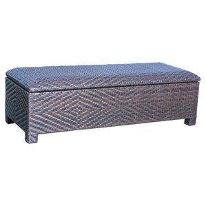 Casarano Wicker Storage Bench
