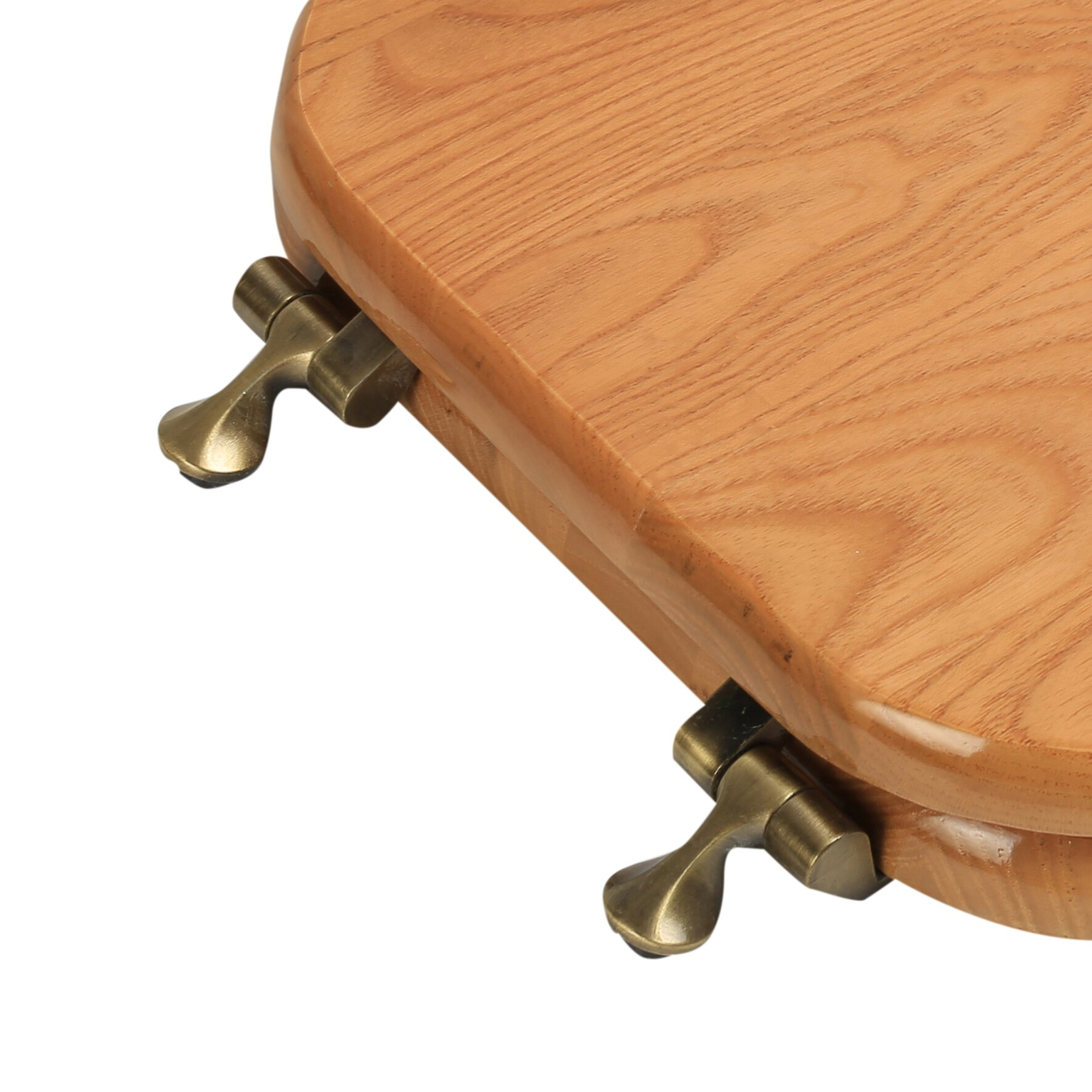 PlumbingTechnologiesLLC Designer Solid Oak Wood Elongated Toilet - Oak toilet seat soft close