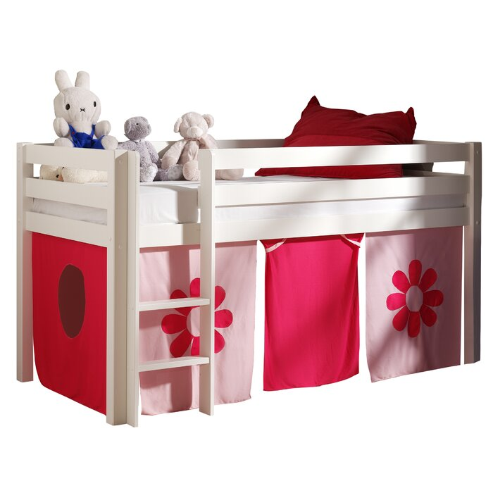c97408b17788 Vipack Pino European Single Mid Sleeper Bed with Curtain | Wayfair.co.uk