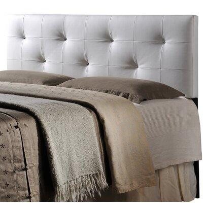 Orren Ellis Eladia Upholstered Panel Headboard Upholstery: White, Size: King